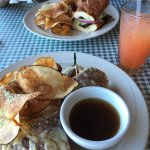 french dip & pastrami sandwiches