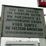 old sign from the cold war era
