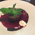 CIOCCOLATO Chocolate mousse with strawberry coulis