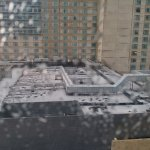 Hail and Heavy Rains Storm Came and I was thankful hotel was close to the Convention Center