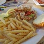 Soft-shelled crab sandwich
