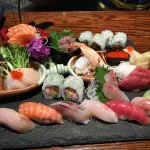 Sushi and Sashimi platter - every part of this tasted as good as it looked