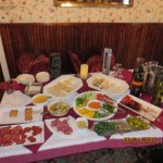 cheese, meats, dip, and veggies of wine and cheese