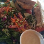 The salmon rueben with side salad