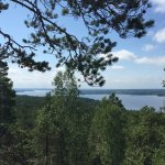Views from Pirunvuori towards the lake
