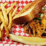 Our very own Pigwhich- Sausage, Pulled Pork, Pico and Shredded Cheese- only here!