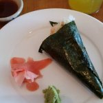 Temaki Cone Roll with rice and conch