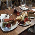 Mini cheese platter, the Italian panini & wine flights--outstanding! Friendly staff, a wide vari