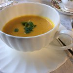 Pumpkin Soup Starter for High Tea