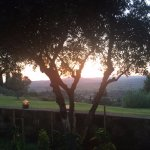 A view from our garden table just as the sun dipped below the horizon