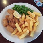 Fish n chips, scampi and chips
