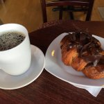 Chocolate croissant & coffee