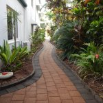 Lovely gardens and landscaping at Beachfront Apartments, Trinity Beach