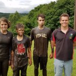 The kids after a bog run