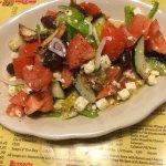 Tomato salad was great!