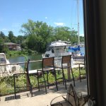 View out the window of Creek Side Restaurant, Catskill, NY