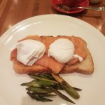 Poached Eggs with salmon