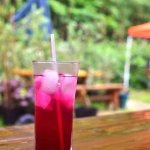 Cold, refreshing shiso juice, made from shiso in the garden
