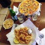 Delicious Pizza & Calamari Fritti