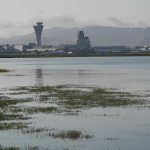 The airport from the shoreline park.