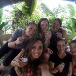 Taking a shot of pure sugar cane liquid