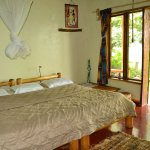 Double bed in Swallow cottage