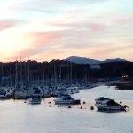 Lovely sunset over Pwllheli Inner Harbour and Marina from Pontoon.