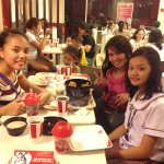So, here is a photo of me, my sister, my mom's friend and her daughter in KFC.
