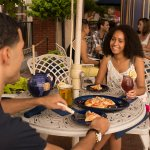 Dine outdoors at The Pub