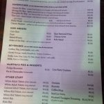 The dinner menu reflected different prices than what was shown online.