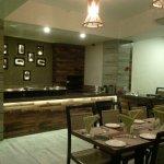 modern furnished dining room
