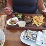 Steak presentation