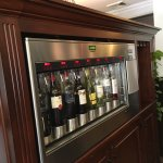 Vending machine-type wine bar in the lobby