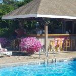 Outdoor pool & bar area