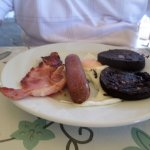 Cosy mini breakfast ( with black pudding, minus beans and tomatoes)