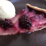 Berry tart and honey ice cream