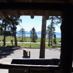 View from front porch of Lodge