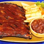1/2 Rack Rib's with Fries and BBq Beans