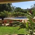 vista de la habitación al jardín