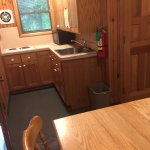 cozy kitchen with microwave , stove, kitchen