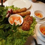 Spring rolls and another fried starter