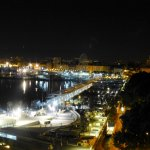 Night views of the port from the balcony