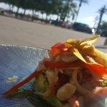 ceviche seabass and prawn