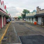 Empty streets at 10am on a Fridau