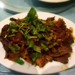 Beef and Tripe appetizer. Great contrast of Herbs against the Meat