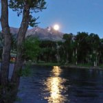 Moonlight over the Yellowstone River