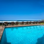 Solar heated salt water, oceanfront pool