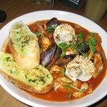 Theseafood stew