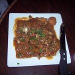 Catfish Acadian (fried catfish topped with crawfish etouffee)