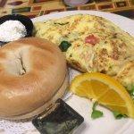 Veggie Omelet & Bagel